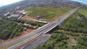 Imagem aérea mostra como esta a Dique 2. Foto: Anderson Silveira