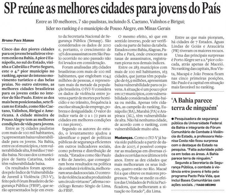 Pouso Alegre é o município do Brasil que concentra as melhores condições de vida para jovens