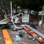 Bandidos renderam segurança da Univás e explodiram o caixa em Pouso Alegre.