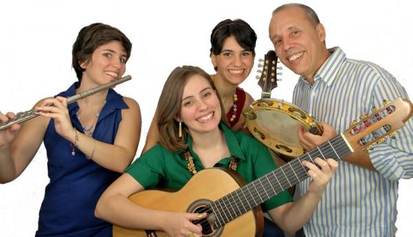 Corina, Elisa, Lia e Eduardo formam o Choro das 3. Divulgação/Assessoria de Imprensa