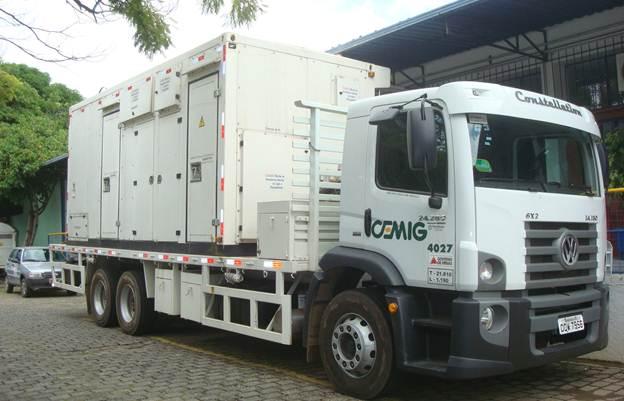 Unidade de geração móvel pode ser utilizada para manter a continuidade parcial ou total do fornecimento de energia.