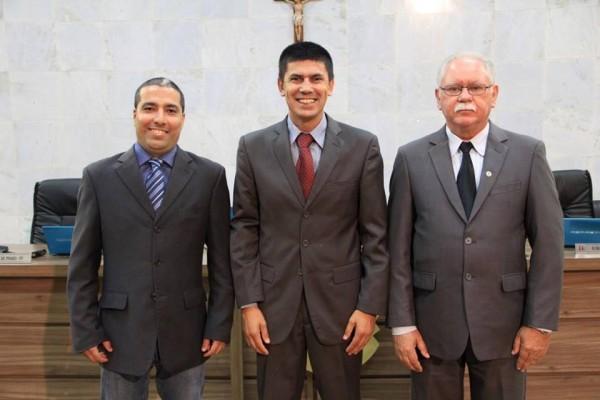 Rafael Huhn e Mário de Pinho apoiaram a pré-candidatura de Hélio da Van (centro)