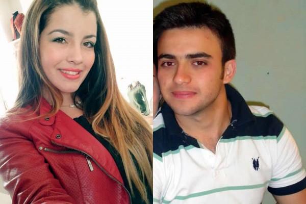 Maria Gabriela Ribeiro, de 18 anos, e Matheus Almeida Bauch, de 22 anos, ficaram presos às ferragens do veículo. Imagem: Reprodução Facebook