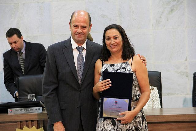 Vereador Hamilton Magalhães homenageou a Irmã Neusa Madureira