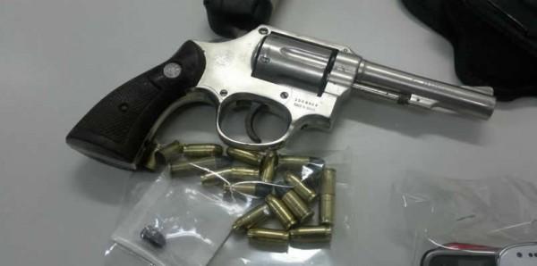 Arma usada no momento do crime. Foto: Policia Militar
