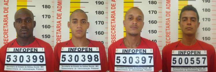 Laelson, Kerlon, Cludinei, e Alex. Suspeitos foram presos. Foto: Blog do Airton Chips