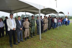 Autoridades estiveram presentes na cerimônia. Foto: PM Divulgação