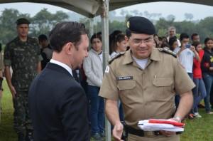 Secretário de Comunicação Cristiano Rodrigues, representou o Prefeito <a class='post_tag' href='http://pousoalegre.net/topicos/agnaldo-perugini/' >Agnaldo Perugini</a>. Foto: Divulgação PM
