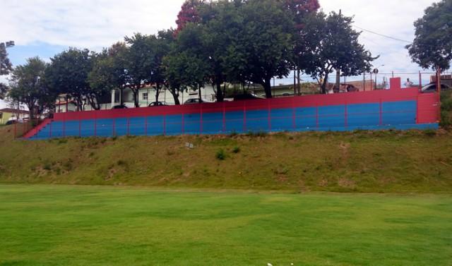 Estádio Nelson Massafera recebe melhorias. Foto: Ascom PMPA