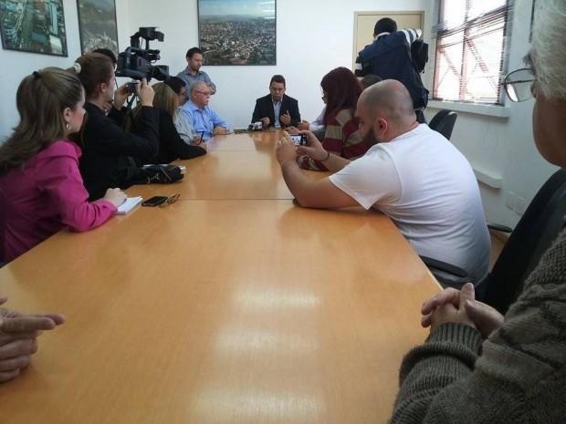 Anuncio aconteceu em coletiva de imprensa nesta manhã. Foto: Divulgação PMPA