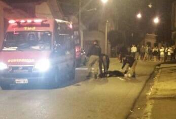 Vítima foi socorrida pelo Corpo de Bombeiros. Imagem: Reprodução Facebook Fernando Lima