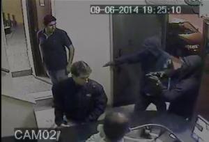 Imagens do circuito interno mostraram ação dos assaltantes. Foto: Reprodução / Blog do Airton Chips