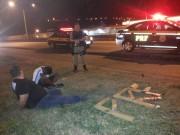 Droga era transportada escondida no assoalho de um carro roubado.
