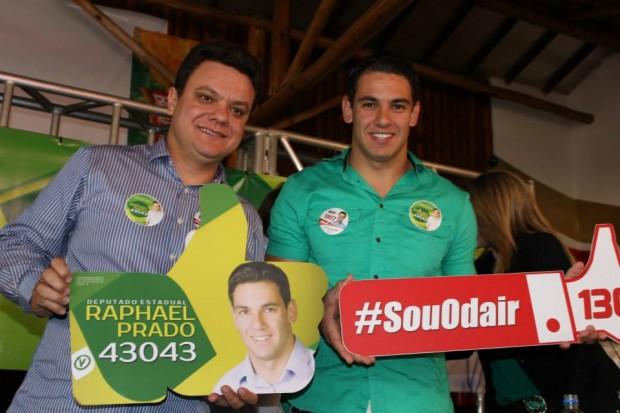 Odair Cunha (PT) deu apoio a Raphael Prado (PV). Foto: Reprodução Facebook Raphael Prado