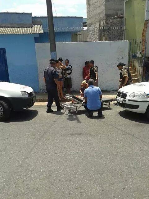 Elaine chegou a ser socorrida, mas não resistiu aos ferimentos. Foto: enviada via Whatsapp