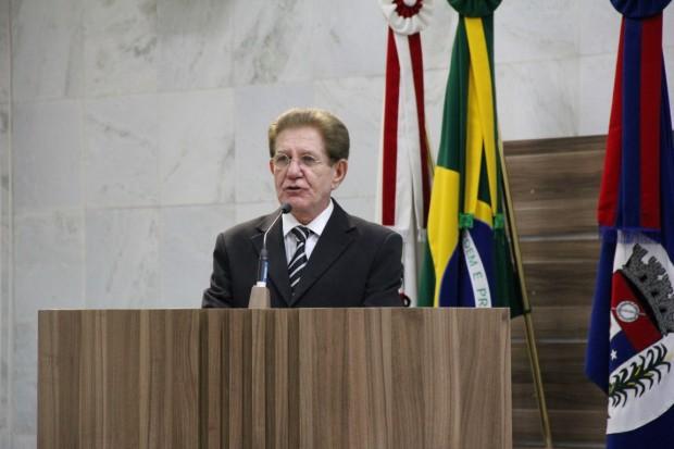 <a class='post_tag' href='http://pousoalegre.net/topicos/gilberto-barreiro/' >Gilberto Barreiro</a>, destacou os momentos importantes da história da empresa. Foto: Divulgação Câmara