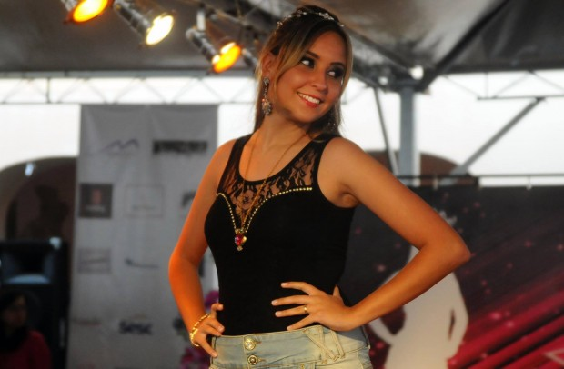 Roberta, foi eleita pelas outras candidatas como Miss Simpatia. Foto: Henrique Chendes