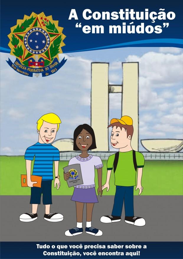 """Capa do Livro """"A constituição em miúdos"""". Imagem: Divulgação Cãmara"""