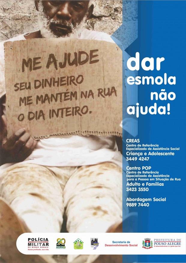 Prefeitura divulgará cartazes como este. Imagem: Divulgação Prefeitura