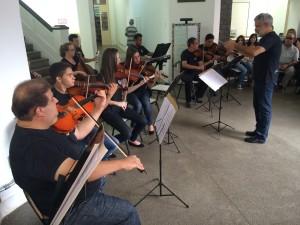 evento contou com a participação da Camerata do Conservatório Estadual de Música