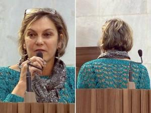 Vereadora do PV ficou de costas após ser hostilizada no plenário em Pouso Alegre (Foto: Reprodução EPTV / Edson de Oliveira)