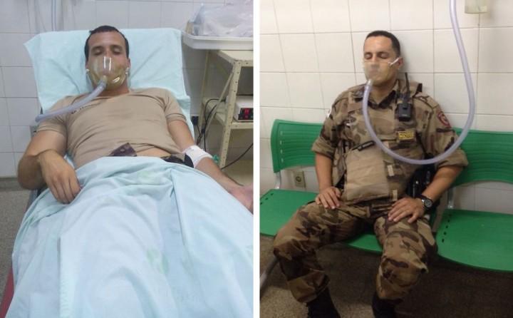 Sd. Andrews  e Sgt. Drummond inalaram muita fumaça durante a ação e foram hospitalizados, mas passam bem.