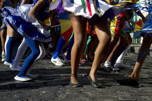 Folião deve toma cuidado com os pés. Foto: Agência Brasil