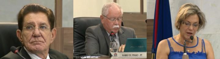 Votaram a favor do relatório apresentado: Ver. Gilberto Barreiro (PMDB), Mario de Pinho (PT) e Dulcineia Costa (PV).