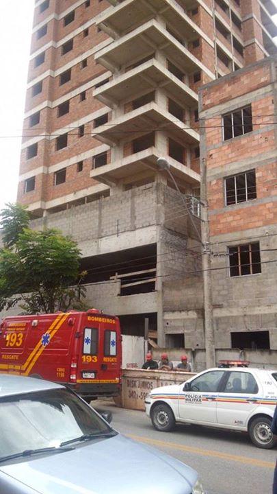 Pedreiro caiu do 14º andar do prédio ainda em construção no bairro Primavera.