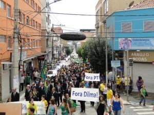 A manifestação foi pacifica e não houve registro de violência. Pouso Alegre levou o dobro de manifestantes as ruas em relação a Varginha.