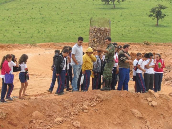 Ação faz parte do Programa de Educação Ambiental da Polícia Militar. A ação teve como principal objetivo desenvolver competências de consciência ambiental.