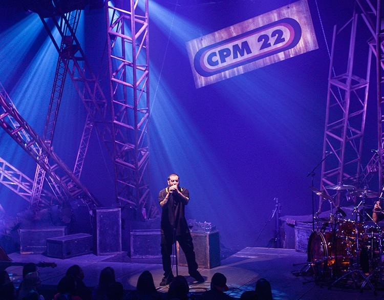 Banda CPM 22 faz show em Alfenas