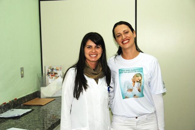Nutricionista Vivian Luz e enfermeira Danielle Zamot