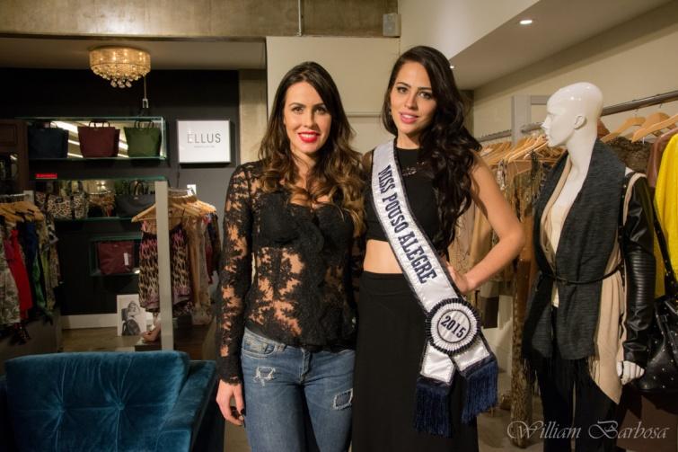 Tamara Ribeiro, Miss Minas Gerais 2002 e <a class='post_tag' href='http://pousoalegre.net/topicos/luana-oliveira/' >Luana Oliveira</a>, Miss Pouso Alegre 2015 e candidata a Miss Minas Gerais 2015. Foto: William Barbosa