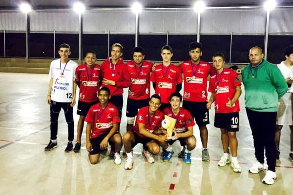 Equipe Sub15 de Pouso Alegre. Foto: Reprodução Esporte Pouso Alegre