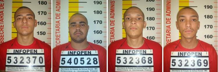 Adriano, Clayton, Handerson e Angelo: Mais de 20 anos presos cada um.