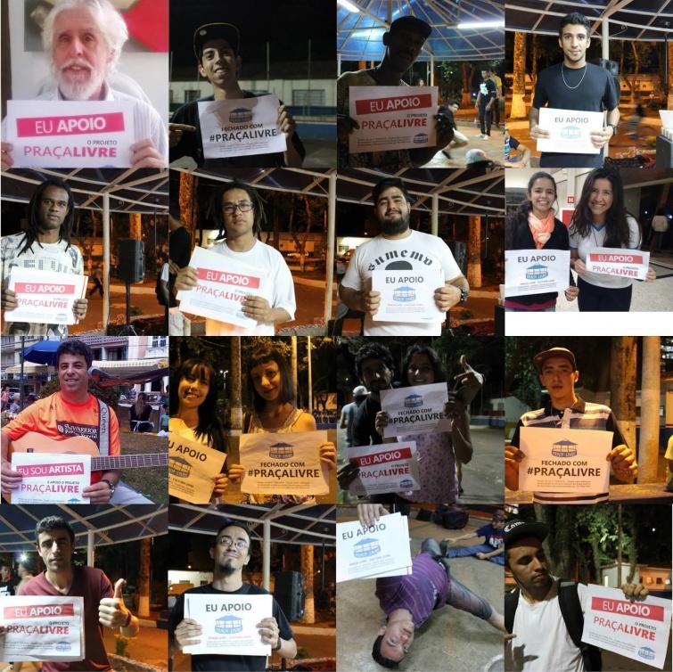 Nas redes sociais, 'Praça Livre' ganha apoio