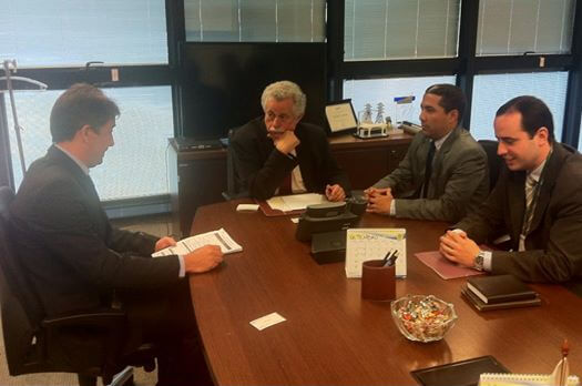 Reunião entre diretor da empresa e o secretário de Estado da Fazenda contou com a participação de Rafael Huhn. Foto: Divulgação Assessoria