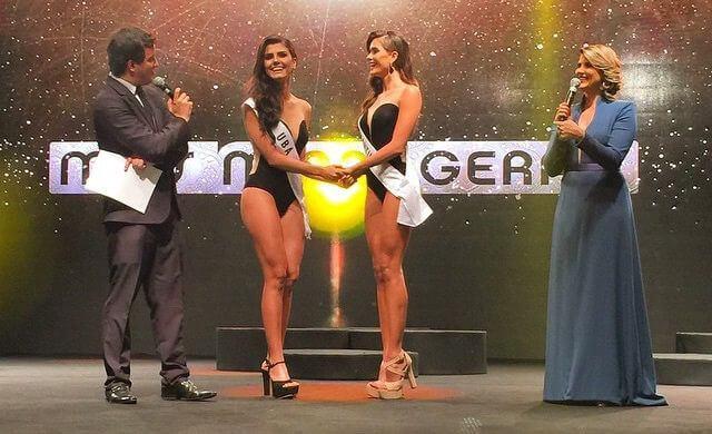 Stéphanie Zanelli, representante de Ubá, foi a vencedora do Miss Minas Gerais 2015. Candidata de Divinópolis é vice. Foto: TV Band Minas/Divulgação
