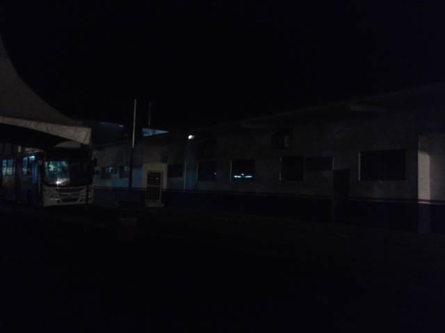 Ponto final esta às escuras em Pouso Alegre.
