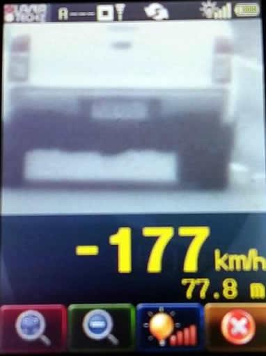 Veículos foram flagrados trafegando  em até 177 km/h. Foto: PRF