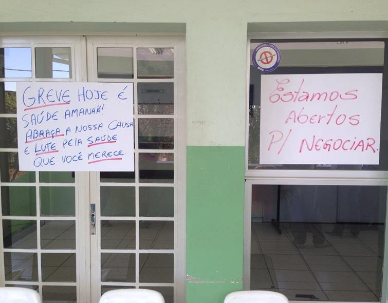 Servidores de postos de saúde seguem em greve em Pouso Alegre. Foto: Reprodução Facebook Douglas Vasconcelos.