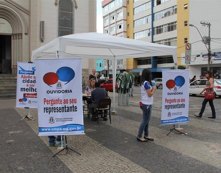 Câmara de Pouso Alegre vai as ruas ouvir a população. Foto: Divulgação
