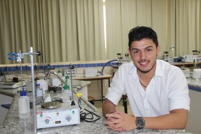 Dhiego Silva Cunha, aluno do 2º período de EP, de Pouso Alegre. Foto: Divulgação FAI