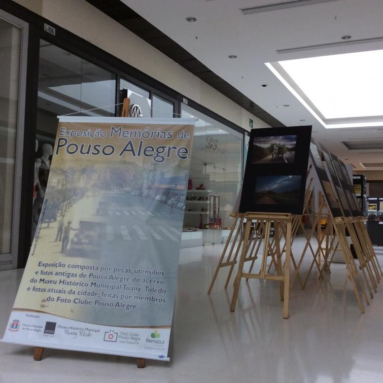 Museu Histórico e Foto Clube homenageiam Pouso Alegre em exposição no SerraSul Shopping. Foto: Assessoria