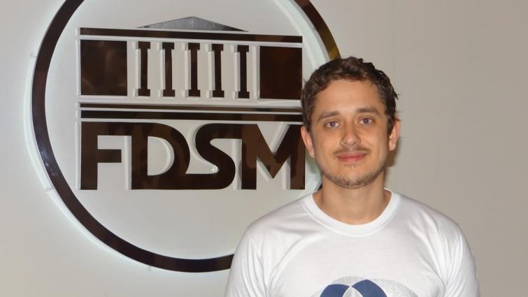 Gustavo Silva Xavier, aluno do 8º período B. Foto: Ascom FDSM