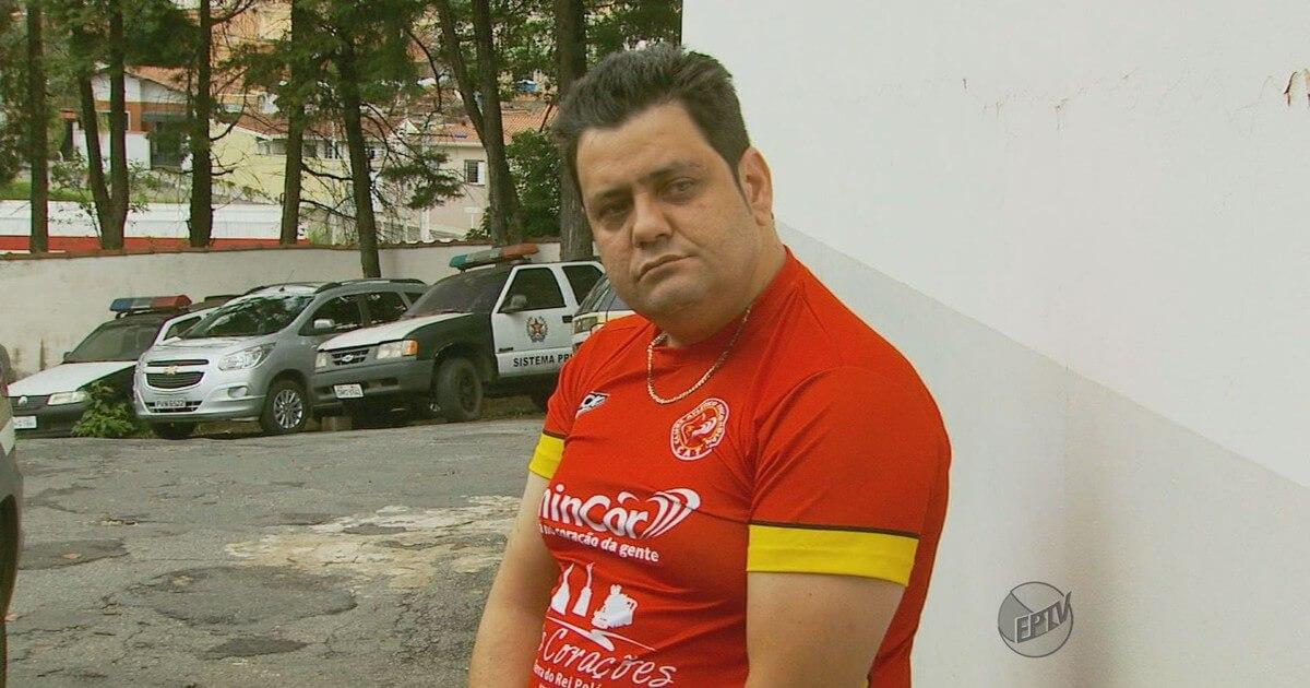 Ricardo Costa foi preso em Pouso Alegre. Imagem: Michel Diogo / Reprodução EPTV