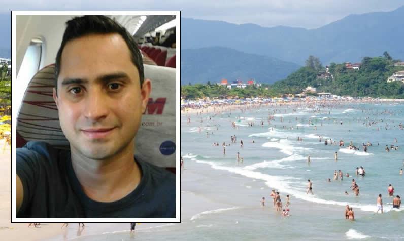 Pousoalegrense morre após escorregar de pedra e cair no mar em Ubatuba