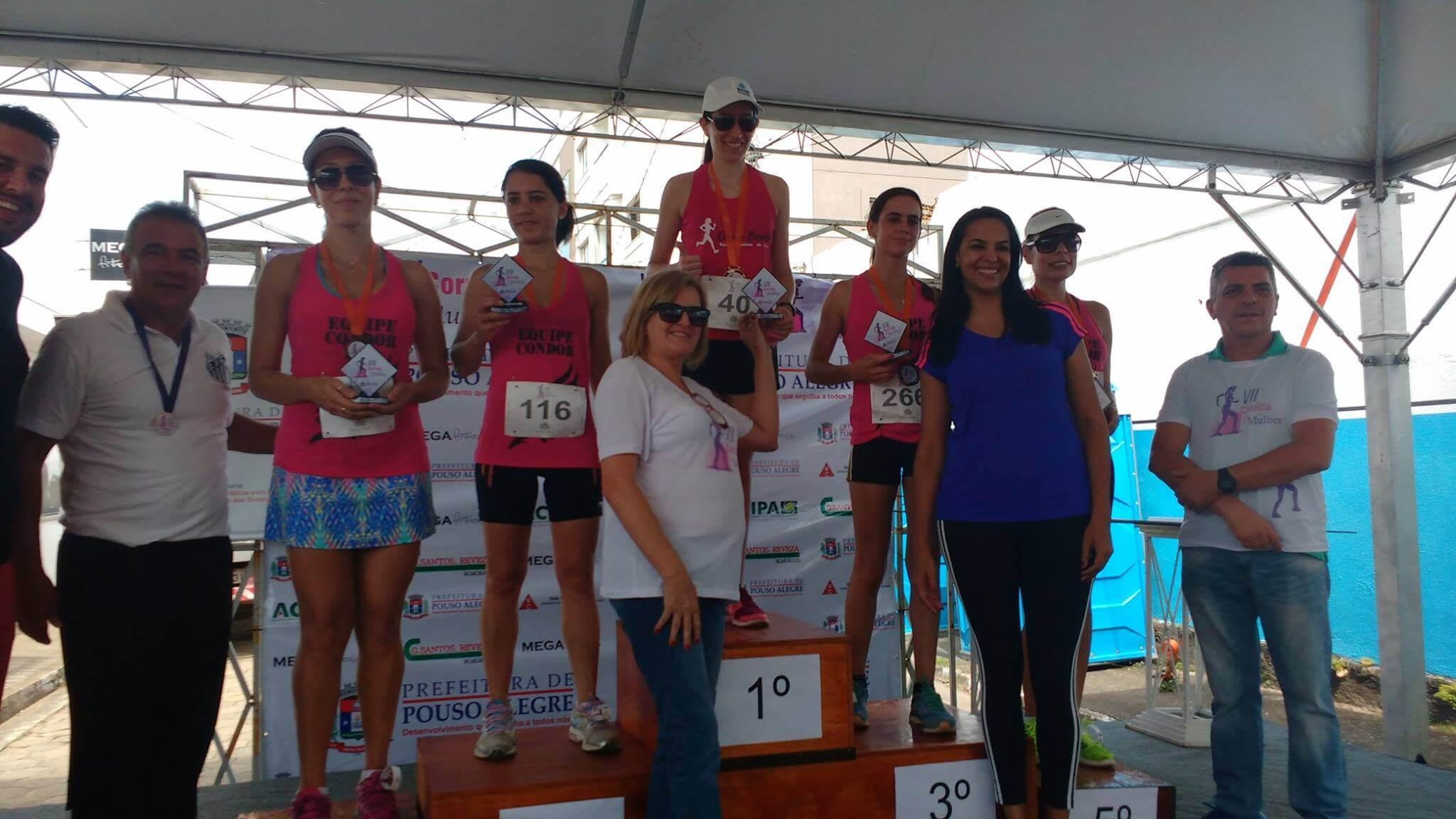 Premiação do feminino. Foto: Prefeitura