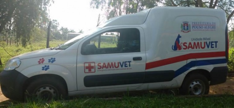 Ambulância do SAMUVET de Pouso Alegre. Foto: Ascom